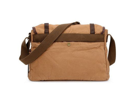Canvas Crossbody Messenger Bag Light Brown - New - Serbags  - 4