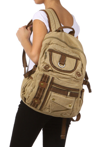 Casual Multi-Compartment 18 inch Utility Backpack - Serbags  - 3