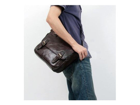 Casual Leather Crossbody Messenger Bag - Serbags  - 9