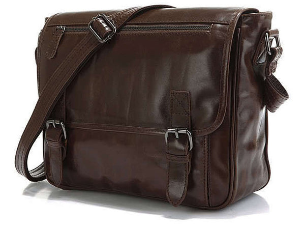 Casual Leather Crossbody Messenger Bag - Serbags  - 2