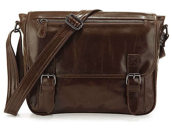 Casual Leather Crossbody Messenger Bag - Serbags  - 3