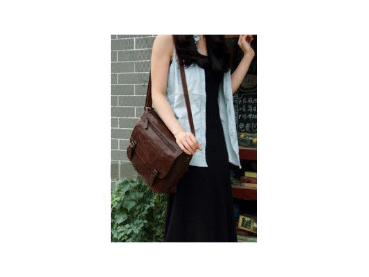 Casual Leather Crossbody Messenger Bag - Serbags  - 10