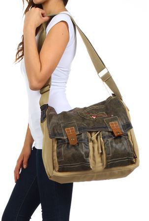 Chicago Student Casual Laptop Canvas Messenger Bag - Serbags  - 7