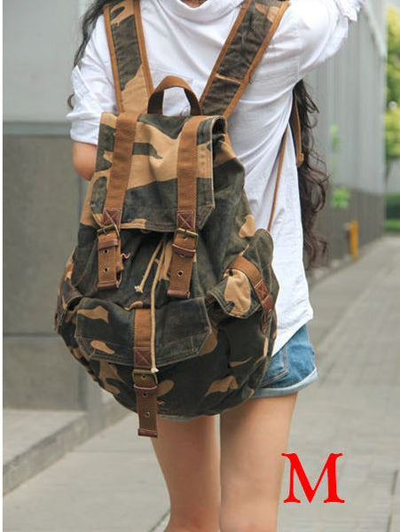 Full Canvas Camo Military Backpack, only $69.99 at SerBags