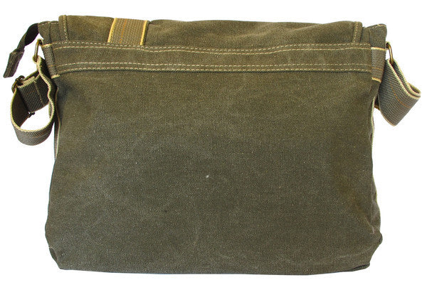 Classic Multi-Pocket Green Messenger Bag - Serbags  - 3