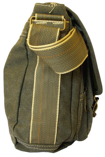 Classic Multi-Pocket Green Messenger Bag - Serbags  - 4