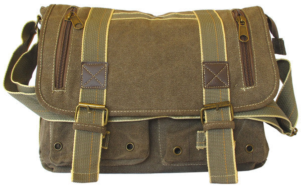 Classic Green Messenger Bag - Serbags  - 1