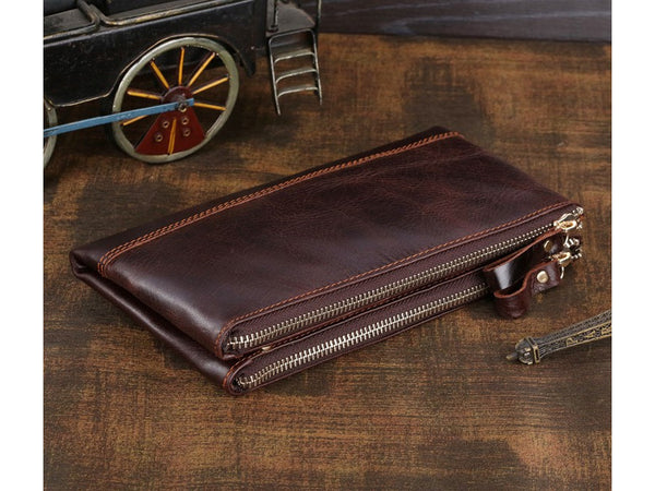 Clutch Organizer Wallet Genuine Leather - Serbags  - 3