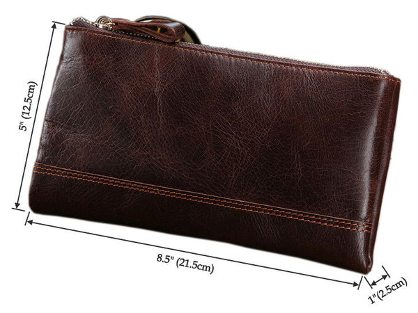 Clutch Organizer Wallet Genuine Leather - Serbags  - 4