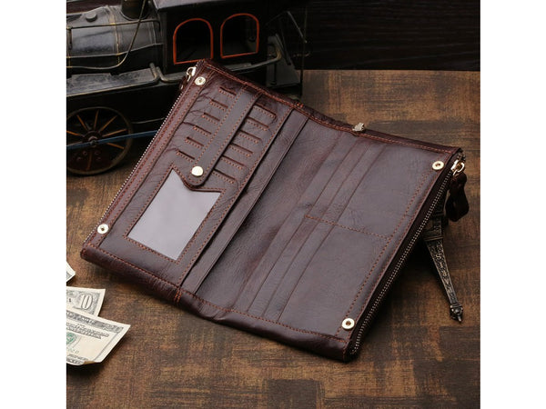 Clutch Organizer Wallet Genuine Leather - Serbags  - 7