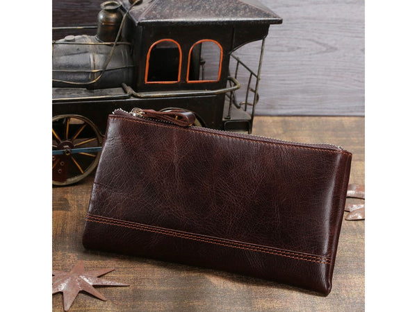 Clutch Organizer Wallet Genuine Leather - Serbags  - 6