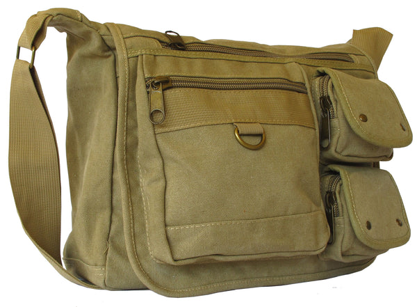 Canvas Travel Cross Body Shoulder Bag - Serbags  - 2