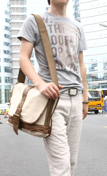 Cross Body Notebook Shoulder Canvas Messenger Bag - 13