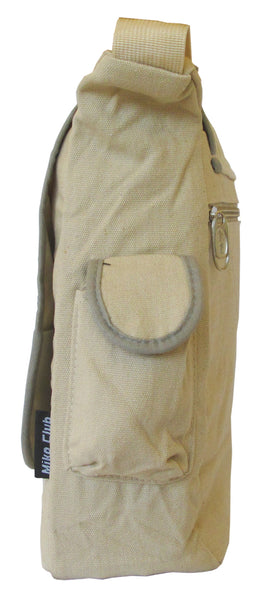 Decal Beige Canvas Messenger Bag - Serbags  - 3