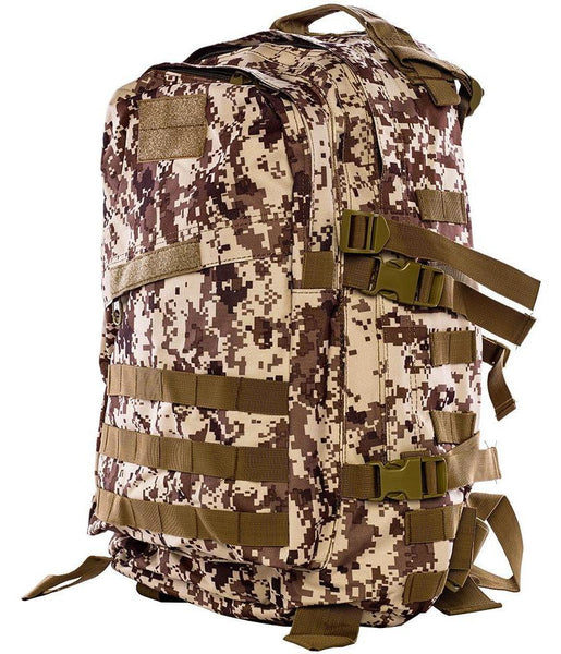Military Digital Camo Hiking Backpack - side view