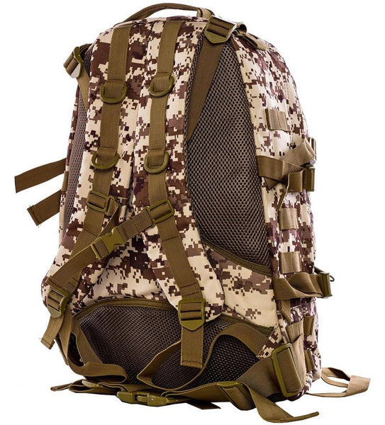 Military Digital Camo Hiking Backpack by Serbags - back view