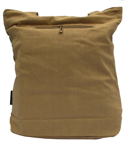 Faces Khaki Canvas Tote Bag for Women - Serbags  - 4