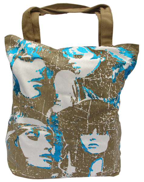 Faces Khaki Canvas Tote Bag for Women - Serbags  - 1
