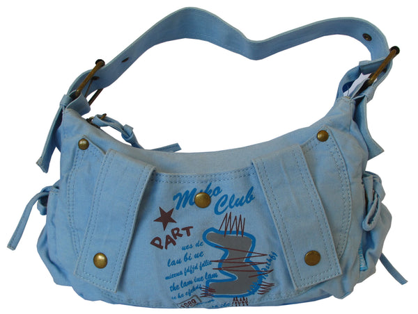 Fashionista Blue Pretty Handbag for Girls - Serbags  - 1