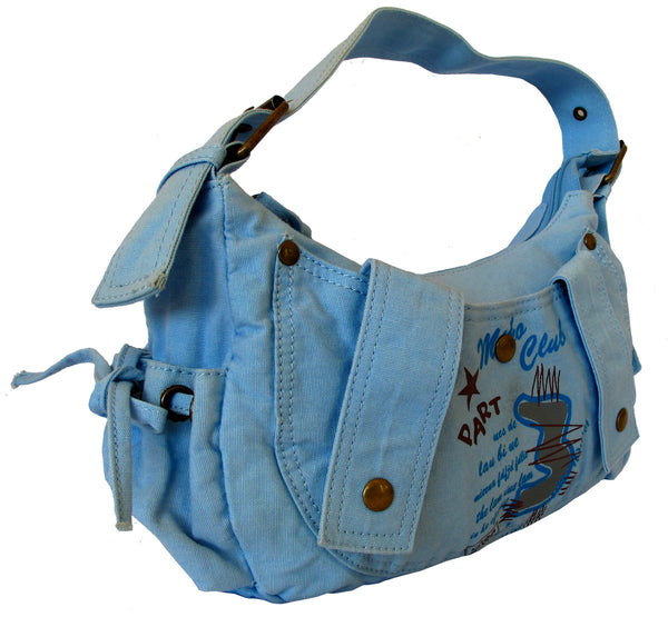 Fashionista Blue Pretty Handbag for Girls - Serbags  - 2