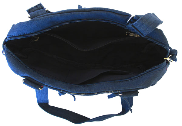 Fashionista Navy Blue Beautiful Handbag for Girls - Serbags  - 5