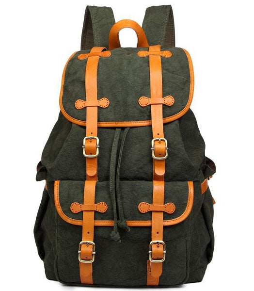gorgeous forest green casual backpack by Serbags