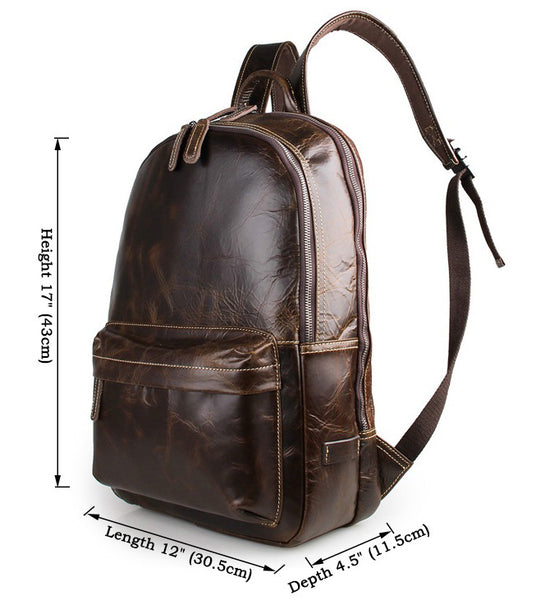 Size chart -Serbags genuine leather backpack