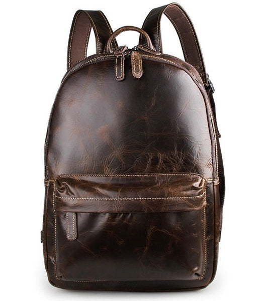 Genuine Leather Laptop School Backpack