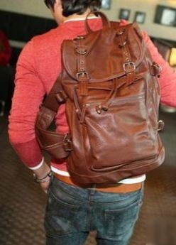Genuine Soft Italian Leather Backpackl | Serbags