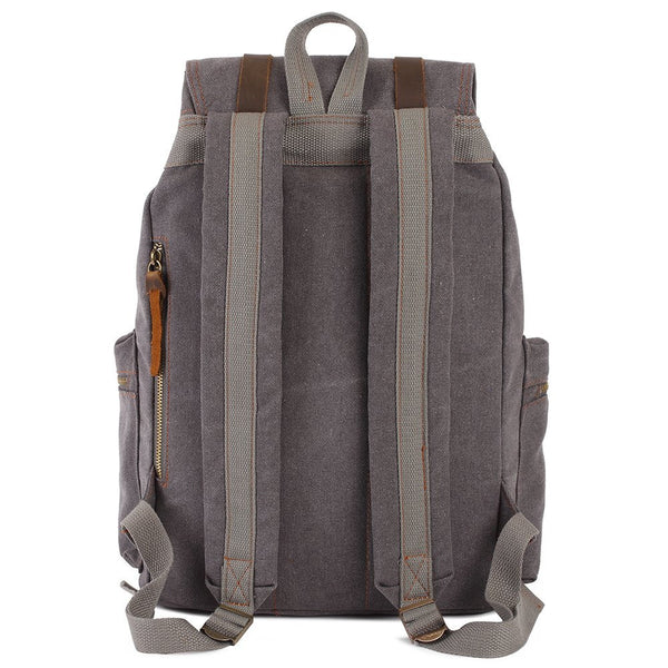 Back view of the casual canvas backpack by Serbags
