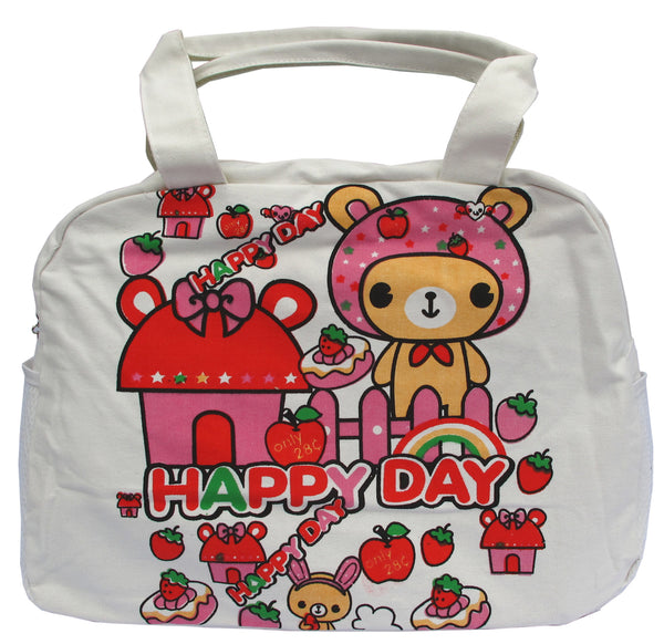 Happy Day Canvas Tote Bag - Serbags  - 1