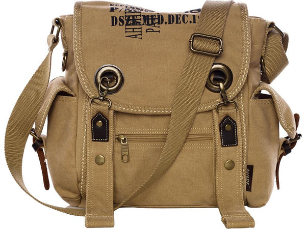 Heavy Duty Multi-pocket Canvas Satchel