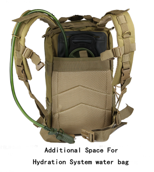 Camouflage Outdoor School Hiking Backpack Oxford Cloth Nylon - Serbags  - 14