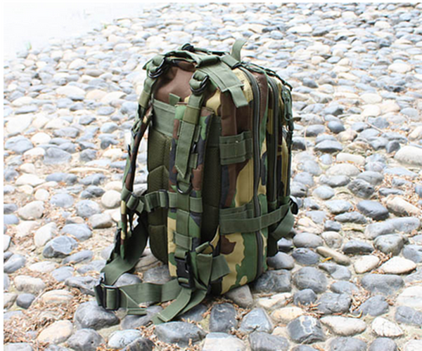 Jungle Camouflage Outdoor Hiking School Backpack Oxford Cloth Nylon - Serbags  - 5