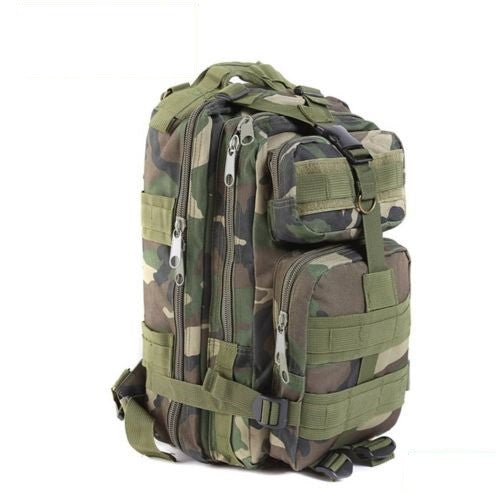 Jungle Camouflage Outdoor Hiking School Backpack Oxford Cloth Nylon - Serbags  - 1