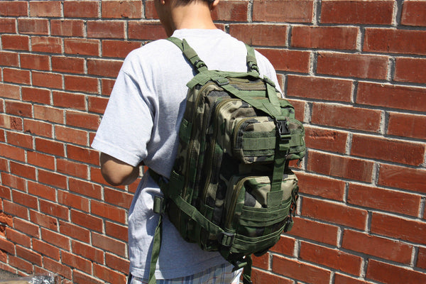 Jungle Camouflage Outdoor Hiking School Backpack Oxford Cloth Nylon - Serbags  - 10