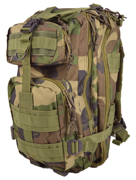 Jungle Camouflage Outdoor Hiking School Backpack Oxford Cloth Nylon - Serbags  - 3