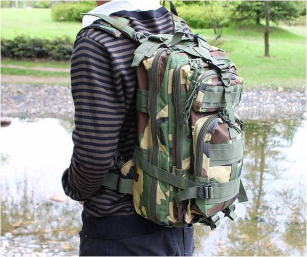 Jungle Camouflage Outdoor Hiking School Backpack Oxford Cloth Nylon - Serbags  - 12