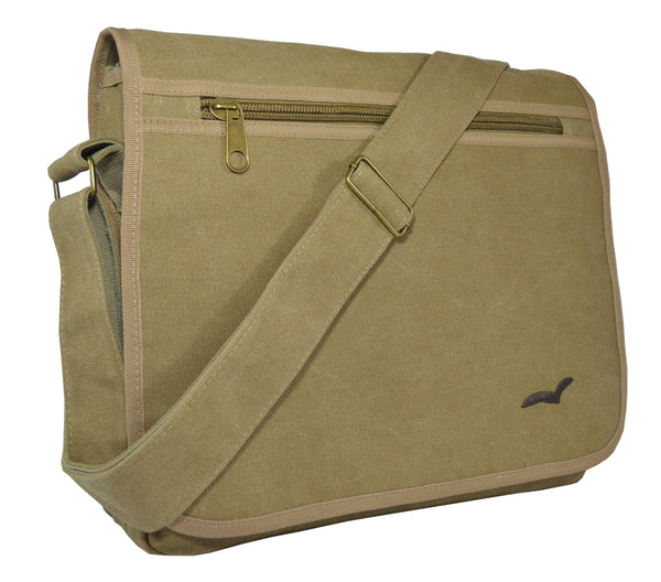 Khaki Classic Messenger Bag - Serbags  - 2