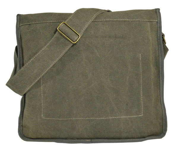 Army Green Canvas Heavyweight Messenger Bag - Serbags  - 4