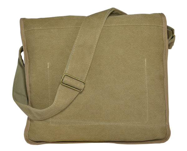 Khaki Classic Messenger Bag - Serbags  - 4