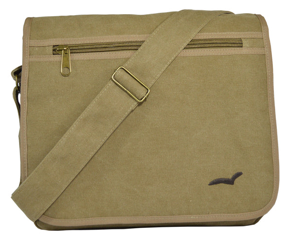 Khaki Classic Messenger Bag - Serbags  - 1
