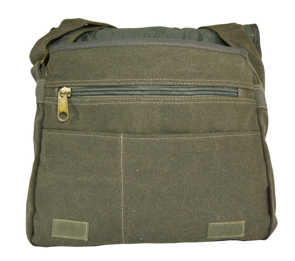 Army Green Canvas Heavyweight Messenger Bag - Serbags  - 3