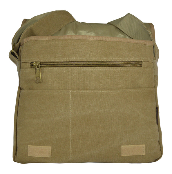 Khaki Classic Messenger Bag - Serbags  - 3