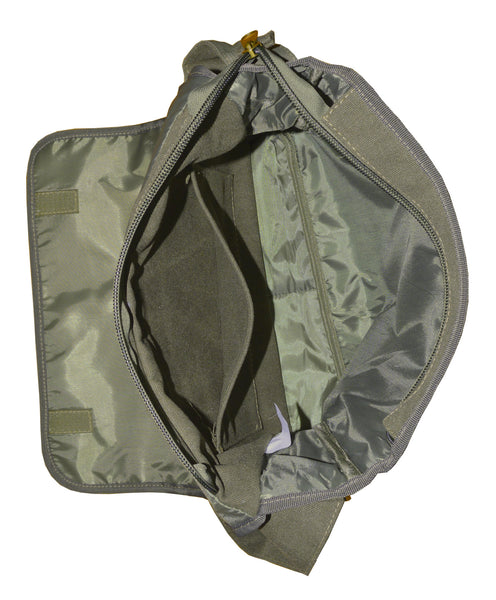 Army Green Canvas Heavyweight Messenger Bag - Serbags  - 6