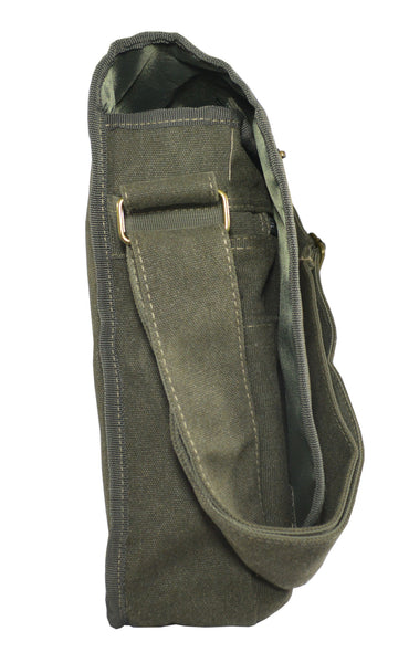 Army Green Canvas Heavyweight Messenger Bag - Serbags  - 5