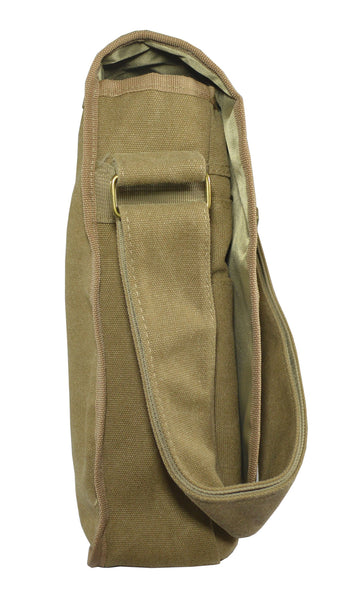Khaki Classic Messenger Bag - Serbags  - 5