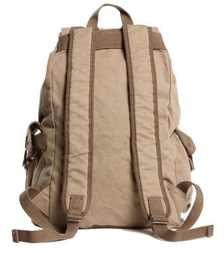 Back view of the Classic Canvas Rucksack Backpack by Serbags
