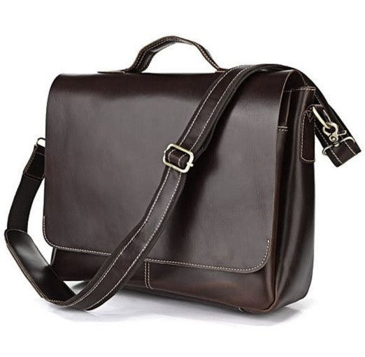Convertible Flapover Shoulder Bag with 3 Exterior Pockets And Laptop Bag