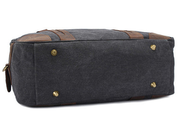 Leather Trimmed Weekender Bag